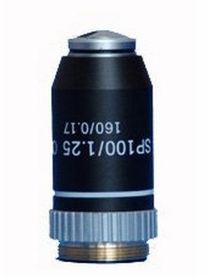 GOWE Brand New 100X Microscope Semi Plan Achromatic Oil Objective Lens - NEW!