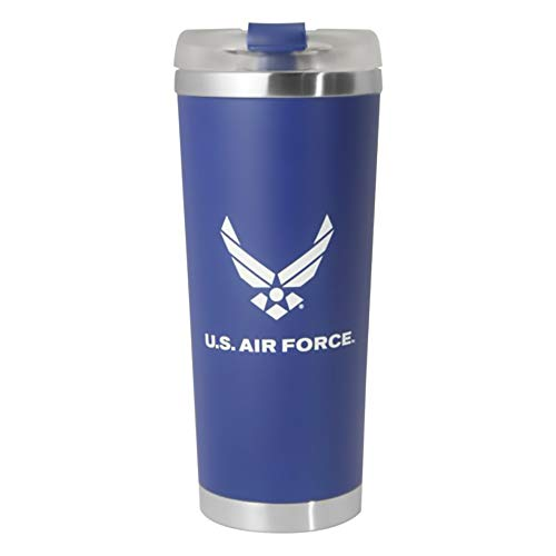 (U.S. Air Force Symbol White Imprint on 24oz Stainless Steel Thermal Tumbler )