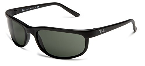 Ray-Ban Predator 2 RB 2027 Sunglasses Black / Matte Black / Crystal Green (W1847) 62mm & HDO Cleaning Carekit (Matte Black Crystal Green)