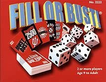 Bowman Games Fill Or Bust Great Card And Dice Game