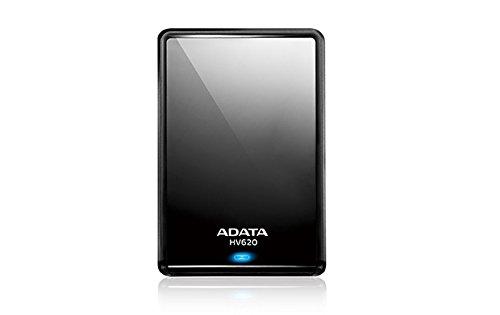 ADATA HV620 500GB USB 3.0 Stylish and Sleek External Hard Drive, Black (AHV620-500GU3-CBK)