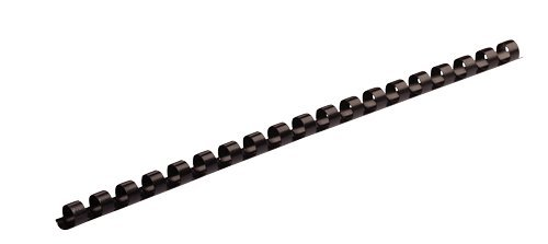Fellowes Plastic Comb Binding Spines, 1/4 Inch Diameter, Black, 20 Sheets, 100 Pack (Plastic Spines)