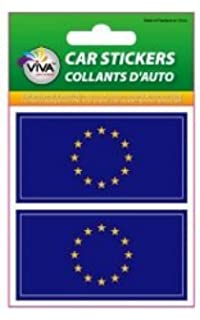 GERMANY PLAIN 1 3//8 X 2 3//4 INCH SET OF 2 COUNTRY FLAG VINYL CAR STICKERS .