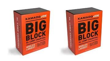 KamadoJoe KJCHAR KJ-CHARBOX Hardwood Extra Large Lump Charcoal, 1-(Pack) (2-(Pack))