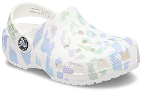 Crocs Unisex-Child Kids' Classic Animal Print Clog | Slip on Shoes for Boys and Girls