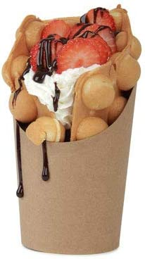 Envase Vaso Cartón Kraft Bubble Waffle (caja 1000uni): Amazon.es ...