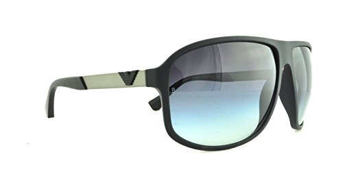 Armani EA4029 Sunglasses 50638G-64 - Black Rubber Frame, Grey Gradient EA4029-50638G-64