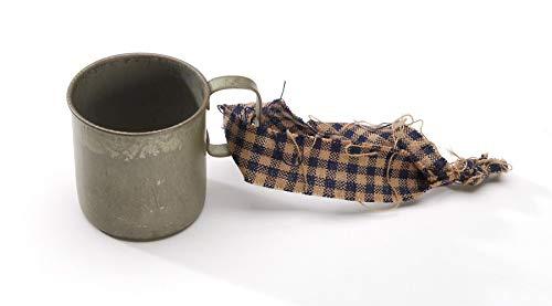 Darice Tin Cup, Antique Gray, 1.5 Inches Ornament, -
