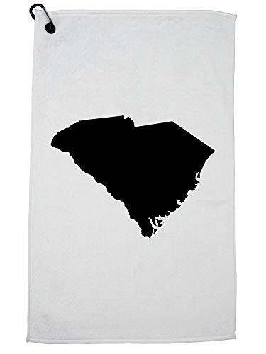 Hollywood Thread South Carolina State Silhouette - Home State Golf Towel with Carabiner Clip