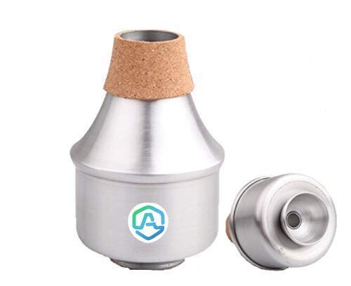 (Ashtonn Wah Wah Cork Mute Trumpet - Wow Wow Easy Blow Aluminum Tube Harmonic Brass Bubble Mutes for Jazz and Classic)