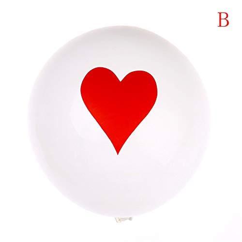 Ballons & Accessories - 10pcs Lot 12inch Spades Hearts Clubs Diamonds Latex Balloon Casino Cards Dice Poker Party Decor - Balloons Accessories Ballons