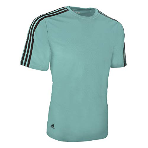 (adidas Men's ClimaLite 3-Stripes Golf T-Shirt (A72))
