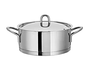 28cm artame bramo induction 18 10 stainless steel casserole high quality cookware. Black Bedroom Furniture Sets. Home Design Ideas