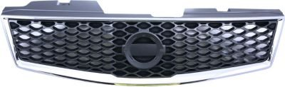 Evan-Fischer EVA17772045609 Grille Assembly Grill Plastic shell and insert Chrome with dark gray