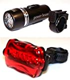 Bundle: Bicycle Light Set, Bicycle Lights Front and Rear. Cycle LED Lights. Biking, Camping, Baby Stroller, Jogging, Car Emergency. Bicycles Accessories, Bike Light Set. One Stylus