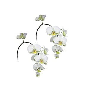 Real Touch Latex Single Stem Orchid Branch for home decor, office, centerpieces, and wedding bouquets (Pack of 2) 74