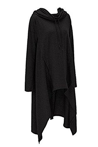 Yallmarket - Sudadera con capucha - para mujer negro
