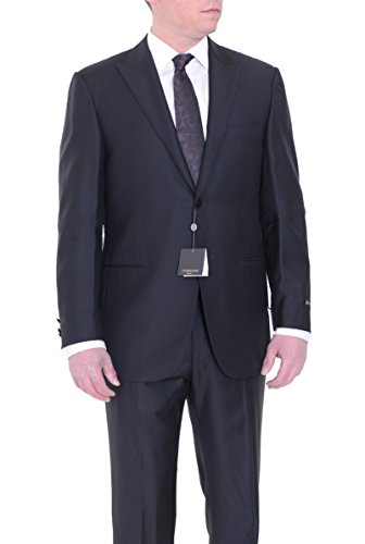 corneliani-slim-fit-44r-54-black-striped-super-130s-wool-suit-with-peak-lapels