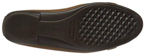 Aerosoles Women's High Bet Ballet Flat Dark Tan Leather hqC57F3TK