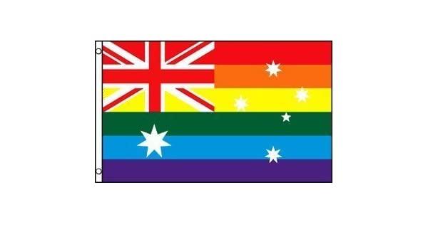 Australia Rainbow LGBT Gay Pride 5/'x3/' Flag !