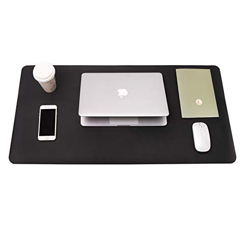 Writing Desk Pad, YSAGi Anti-Slip Thin Mousepad for Computers,Office Desk Accessories Laptop Waterproof Dual-Sided Desk Protect for Office Decor and Home(Black, 31.5″ x 15.7″)
