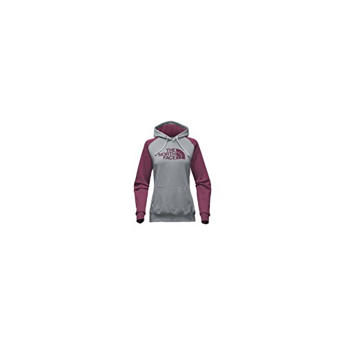 Jersey Ribbed Sweatshirt (The North Face Women's Half Dome Hoodie - Medium Grey Heather/Crushed Violets - XS)