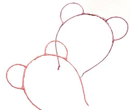 5 Pieces Bear Ear Hairband Headband Headwear Makeup Party for Daily Decor -