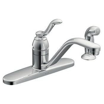 Moen CA87528 Kitchen Faucet with Side Spray from the Banbury Collection, Chrome