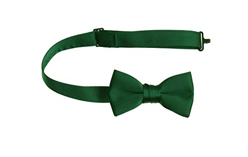 (Emerald Green Pre Tied Bow Tie with Adjustable Neck Strap, Boys and Men Sizes (Toddlers))