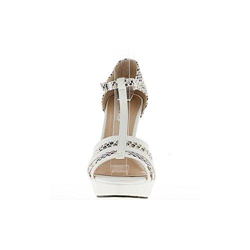 Bi donna bianca scarpe colorate tacchi di scarpa davanti e 12,5 cm