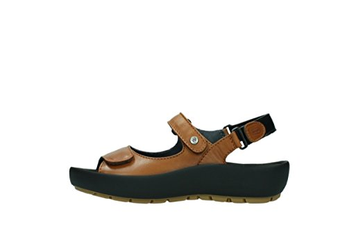 3325 Cognac Rio Women's Sandal Leather 20430 Strapped Leather WOLKY HwX0qgq
