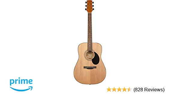 Amazon Com Jasmine S35 Acoustic Guitar Natural Musical Instruments