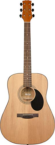 Jasmine 6 String S35 Acoustic Guitar Pack - - Slim Acoustic Guitar Electric Neck