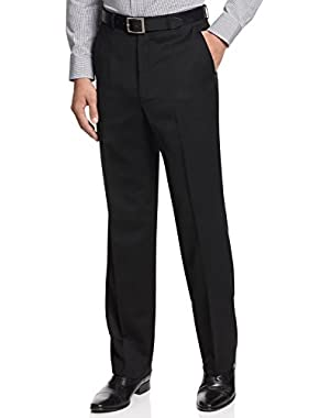 Calvin Klein Slim Steel Black Solid Flat Front New Men's Dress Pants