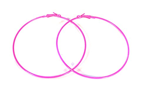 Pink Hoop Earrings Bubble Gum Pink Divas Diggables