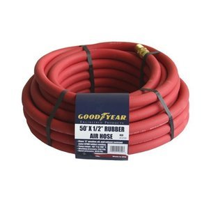 Goodyear 12709 Red Rubber Air Hose 1/2-Inch x 50-Feet 250 PSI from Goodyear