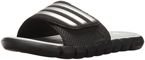 adidas Performance Adilight SC XJ Slide Sandal (Little Kid/Big Kid),Black/Silver/Clear Grey,5 M US Big Kid (Kids Slide Shoes)