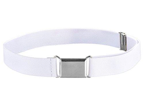- Fancy Kids Elastic Adjustable White Buckle Belt