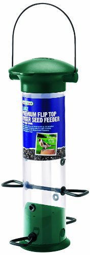 Gardman BA01379 Premium Large Flip Top Nyjer Thistle Feeder, 12″ High