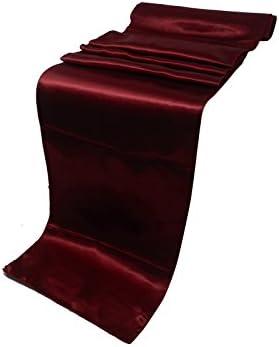 Elinaのパックの20の結婚12x 108インチサテンテーブルランナーウェディング宴会装飾用( 20, maroon-2)
