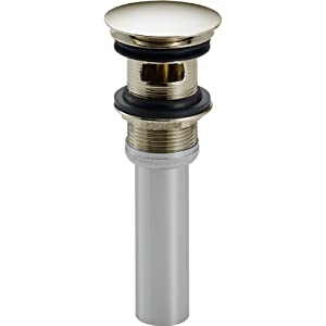 Delta Faucet 72173-PN Push Pop-Up with Overflow, Polished Nickel