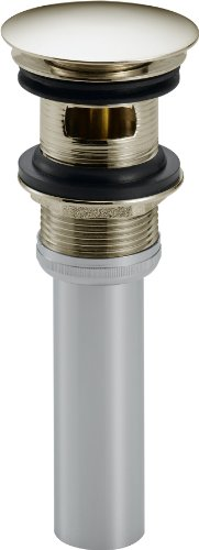 (Delta Faucet 72173-PN Push Pop-Up with Overflow, Polished Nickel)