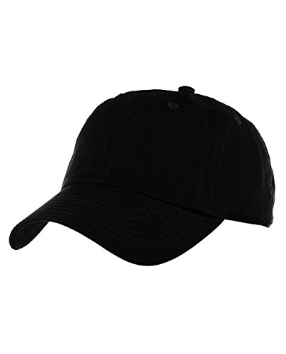 NYFASHION101 Unisex Adjustable 6-Panel Low-Profile Baseball Cap LOW100- Black