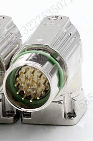 Color: 9 pin Davitu China stainless M23 Encoder Connector with 6 7 9 12 17 pin External thread elbow Pulg