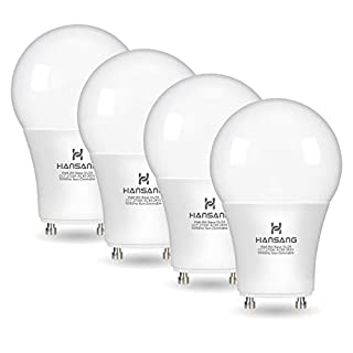 Hansang GU24 LED Light Bulb,A19 Shape Bulb,9W (100W Equivalent),900 Lumens,2700K Warm White,Gu24 Twist Lock Base,Replacing CFL Ceiling Light for Home,Non-Dimmable 4 Pack