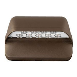 Hubbell LNC-9LU-5K-3-1 Compact LED Wallpak, Bronze, 22W, Type III Dist., 0-10V Dim by Hubbell