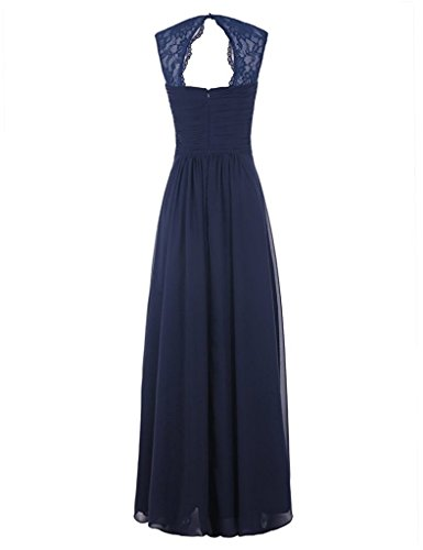 Chiffon Lavender Womens Long Pleated Lace D Straps Dress A Sweetheart Line H S Bridesmaid pHqO1w8