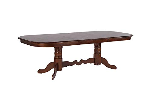 Sunset Trading DLU-ADW4296-CT Andrews Dining Table, Distressed Chestnut ()