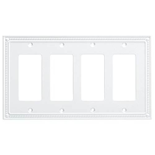quad white switch plate - 2