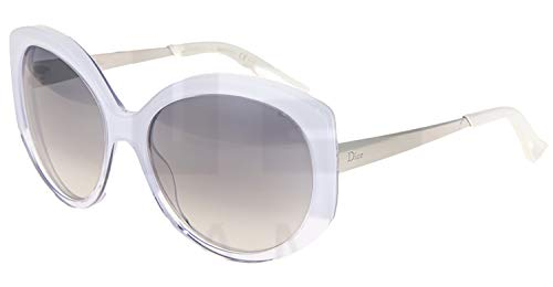 Christian Dior Extase 1/S Sunglasses White Crystal Palladium / Brown ()